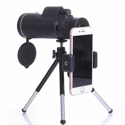 Monocular Telescope 40*60 Night Vision Lens Tripod Compass Mobile Phone Holder