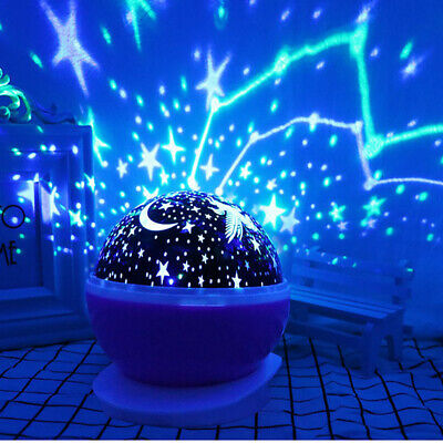 Rotating LED Star Sky Starry Projector Night Light Lamp Romantic Kids Baby Gift