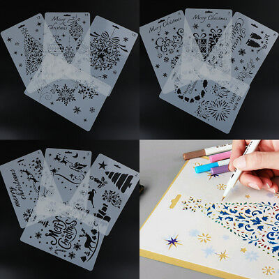 1/Set Layering Stencils Template For WallPainting Scrapbookings Stamping CrafDDE