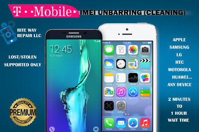 T-Mobile USA - IMEI Premium Unbarring (Lost/Stolen Supported Only)