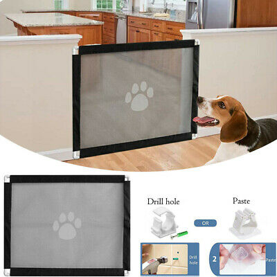 New Retractable Folding Pet Dog Gate Safety Guard Baby Toddler Stair Isolation