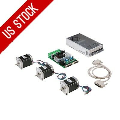 US FREE! 3axis nema23 stepper motor 270oz.in 4leads 3A TB6560 board CNC MILL