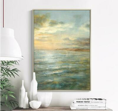 VV433 Large Modern 100%Hand painted Abstract oil painting on canvas frameless