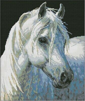 White Horse (4). Brumby. 14CT Counted Cross Stitch. Craft Brand New