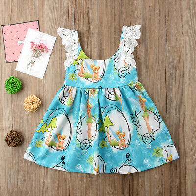 AU Toddler Kid Baby Girls Lace Cartoon Floral Party Pageant Tutu Dress Sundress