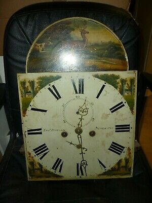 Antique 8 Day Longcase Clock Movement By Tho Duncan Newcastl 19ins By 13.25ins