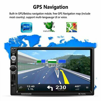 """8.1 Double 2 Din 7""""Car FM MP5 Player GPS Touch Screen Stereo Radio Bluetooth pg"""