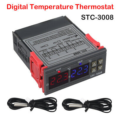 New 110-220V Digital Temperature Thermostat Controller Heating Cooling -55℃~110℃