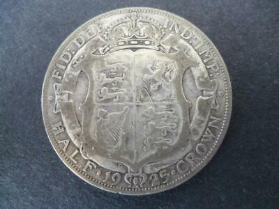 1925 George The 5Th Half Crown Fair Example. 50% Silver One Of The Scarcer Dates