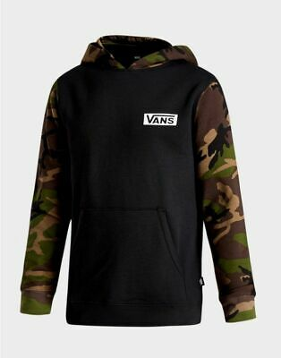 Vans Boys Black - Camouflage Camo Hoodie Brand New With Tags
