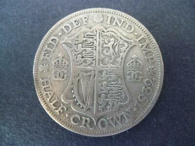 1932 George The 5Th Half Crown Good Condition. 1932 Halfcrown Coin.