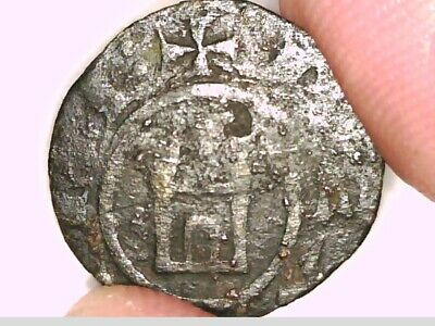 Lusignan Kingdom Crusaders Henry I Cyprus Billon Denier Coin Cross Gateway