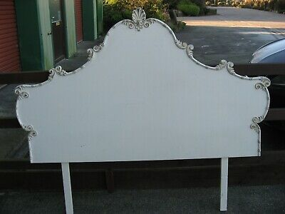 Pretty French style shabby chic bed headboard