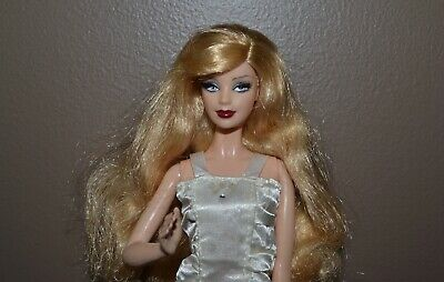 Pretty Blonde Model Muse Style Barbie with Rooted Lashes, Dressed as Shown