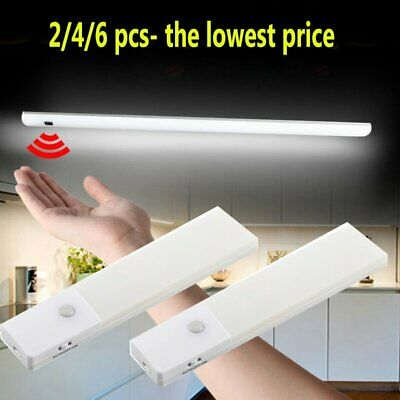 2PCS LED PIR Motion Sensor LED Night Light Battery Operated with Magnetic Strip