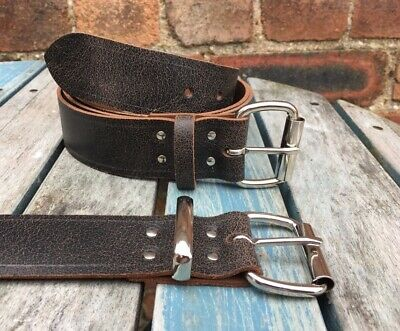 """Toro Belt Real Leather Handmade Choice of Buckles & Widths 3/4"""" - 1 1/2"""" Wide"""