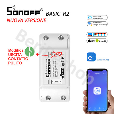 Sonoff Basic R2 Modifica Contatto Pulito Interruttore Smart Wifi Domotica