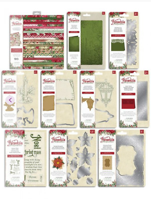 Natures Garden POINSETTIA PERFECTION Crafters Companion Dies,Folders,Pads,Stamps