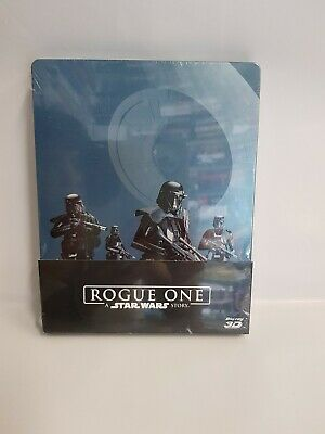 ROGUE ONE - A STAR WARS STORY (2016) BLU RAY 3D+BLU RAY - steelbook - 3 dischi