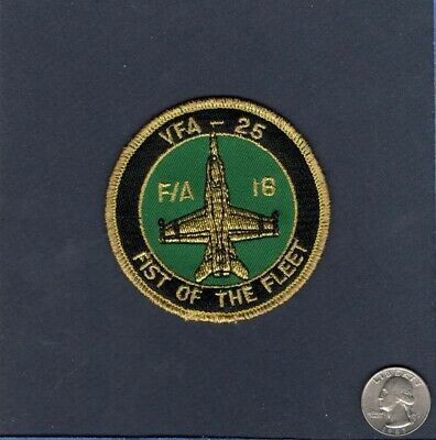 Early VFA-25 FIST OF THE FLEET F-18 F-18C HORNET US NAVY Squadron Bullet Patch
