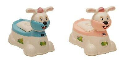 Baby Kids Children Toddler Potty Toilet Bunny Musical Potty Blue Pink New