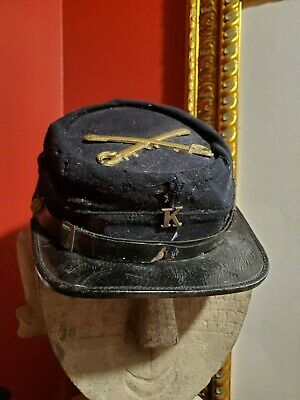 Civil War Union Calvary Company K Kepi Hat Crossed Swords
