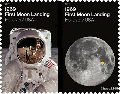 *NEW* 2019 First Moon Landing (Set of 2) 2019 Mint Pair NH -*In Stock*