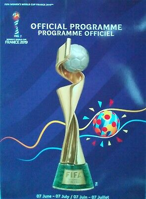 off. Programme FIFA Women's World Cup France 2019 England Scotland Germany USA