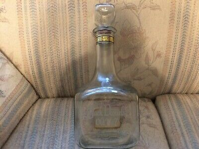 Vintage Jack Daniels Old No 7 Whiskey Bottle Decanter Tribute To Tennessee