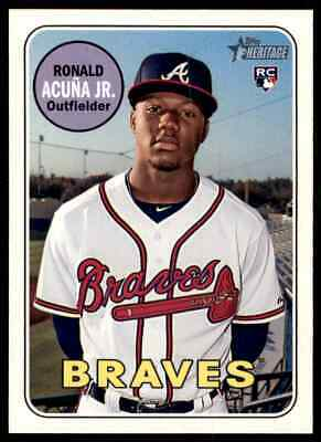 2018 Topps Heritage High Number Ronald Acuna Rookie #580 Braves