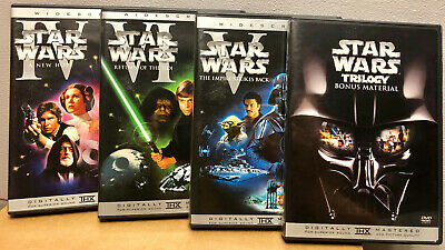 Star Wars Trilogy (DVD, 2004, 4-Disc Set, Widescreen + BONUS FEATURES)
