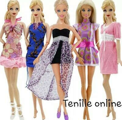 New Barbie Doll 5 sets of clothes dress outfits bulk pretty