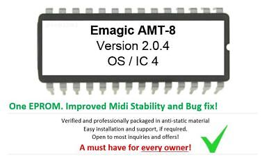 Emagic AMT8 AMT-8 Version 2.0.4 OS Eprom Firmware Update Upgrade Midi Interface