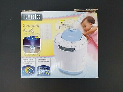 Homedics SS 3000 SoundSpa Lullaby Sleep Sound Machine with Projector and 2 Discs