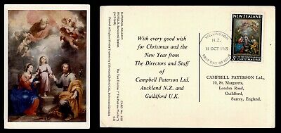 DR WHO 1965 NEW ZEALAND FDC CHRISTMAS ISSUE NATIVITY POSTCARD  e35519