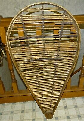 1 Lg Wooden Snowshoe American Trapper Primitive Winter Wilderness Mountain DECOR