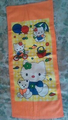 Hello Kitty Face Bath Towel 13.5 In X  32 In New