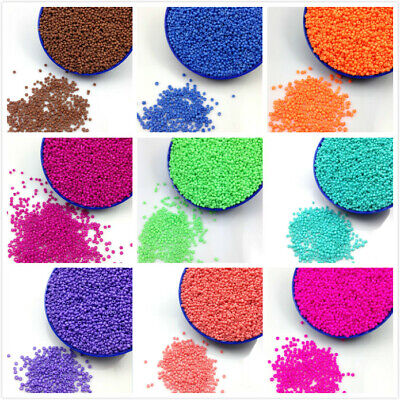 1000pcs 16g 2mm Neon Color Round Loose Czech Glass Seed Beads DIY Jewelry Making