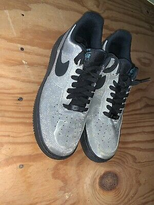 76c5792e3202 Nike Air Force 1 Low Sparkly Silver LV8 Diamond Quest 718152-005 Size 8.5