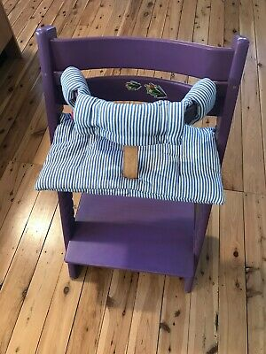 Stokke Tripp Trapp high chair in Purple + harness