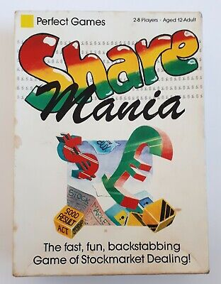SHARE MANIA board game (Perfect Games, 1988)