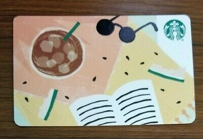 2019 Starbucks Card - Rare Diamond - Summer Sunglasses