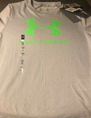 Under Armour Boys Golazo Soccer Jersey T-Shirt White Youth Small XL 1260596-100