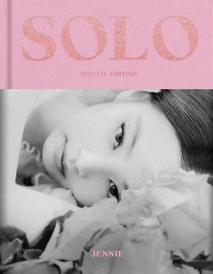 Jennie Blackpink Solo Photobook Special Edition + Photocard + Folded Poster New