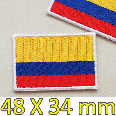 BARRANQUILLA COLOMBIA FLAG Tactical Embroidered Iron-On Patch Gold Border