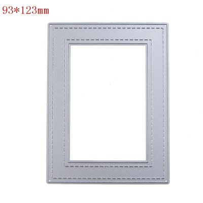 metal cutting Dies stitched rectangle Frame Craft diy Embossing Stencil 9*12cm