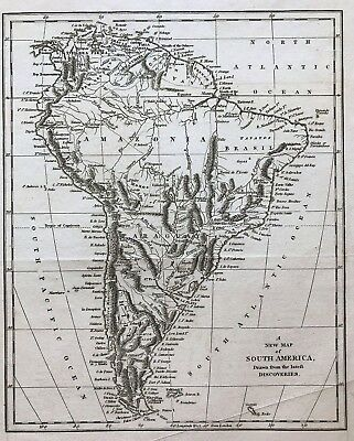 1794 New Map of South America by Robert Wilkinson original engraved, Amazonia