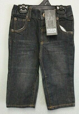 BNWT Boys Sz 6 Black Denim Urban Crusade 5 Pocket Adjustable Waist Long Jeans