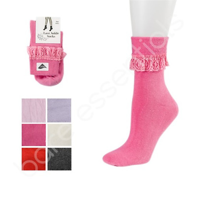 Back To School Girls Rich In Cotton Lace Top Ankle Socks IN Different Colours
