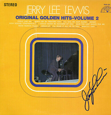 Jerry Lee Lewis Golden Hits Firmado Vinilo Record